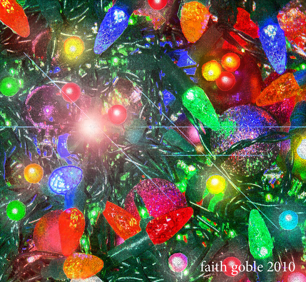 Christmas Lights | Radiant webs Spun by electric spiders Dra… | Flickr
