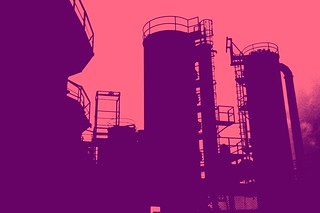 Post industrial era park, purple and pink, Gasworks outline, Seattle, Washington, USA | by Wonderlane