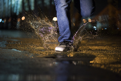 Running through puddles | by Mamallo
