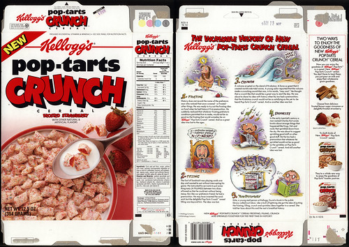 Kellogg's - Pop-Tarts Crunch strawberry flavor - cereal box - 1995 | by JasonLiebig