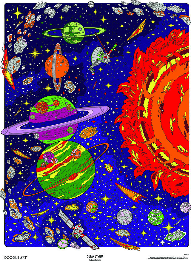 Doodle Art Solar System Coloring Page Poster This Spacey D Flickr