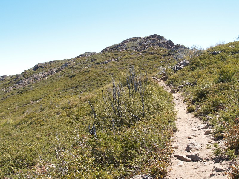 The rocky summit of Garnet Peak isn't far away at all