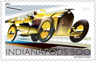 United states postal service indy 500 stamp photo by for Indianapolis motor speedway com