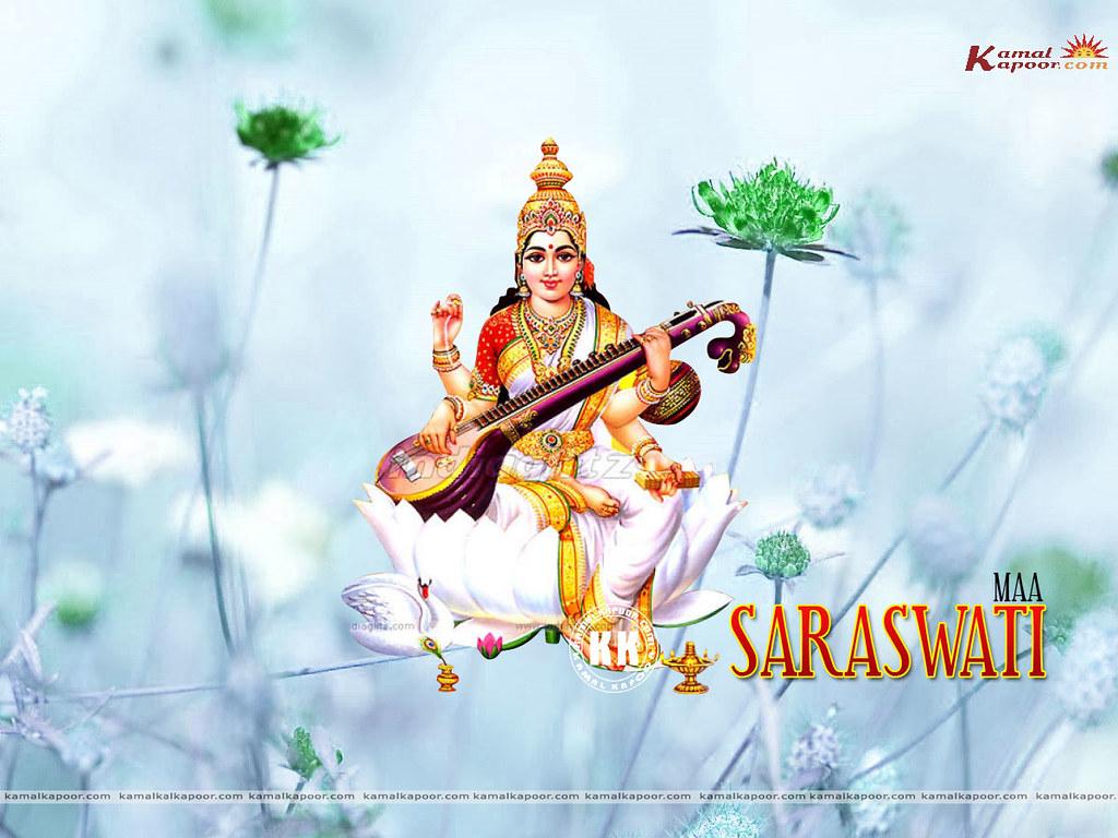 Download Maa Saraswati Wallpapers Free Hindu Free Maa Sara Flickr