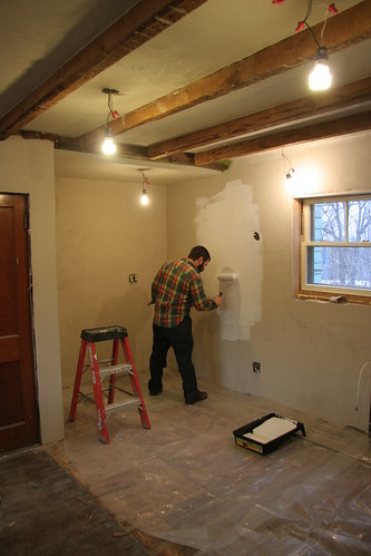 priming the kitchen walls | by elizajanecurtis