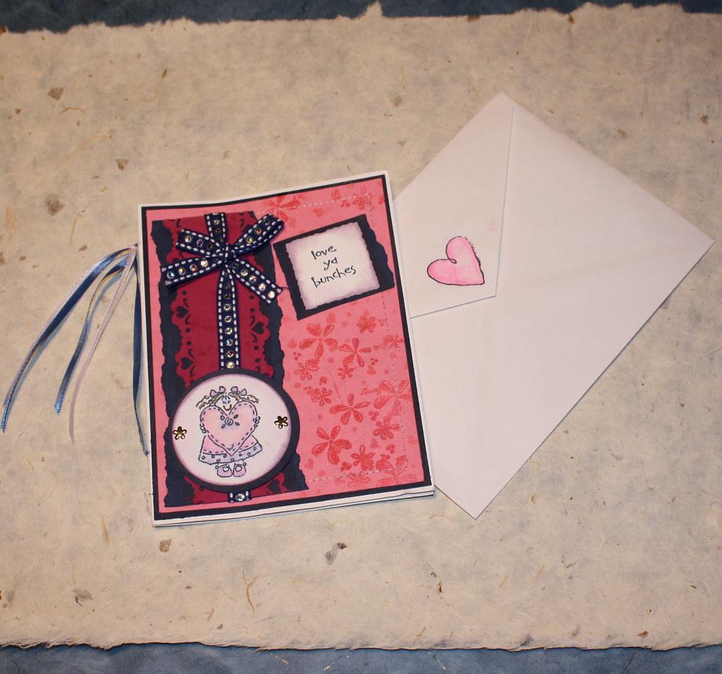 love ya bunches card envelope set shelley valentin filpo