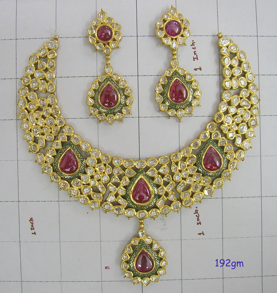 Kundan meena pendant set and pendant and earring setearr flickr kundan meena pendant set and pendant and earring setearring set and bridal kundan aloadofball Images