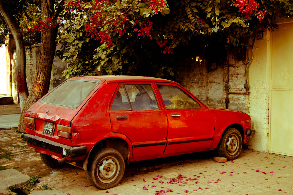 My Grandfather S Old Daihatsu Charade I Found This Car Par Flickr