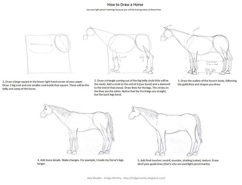 how to draw a horse easy steps