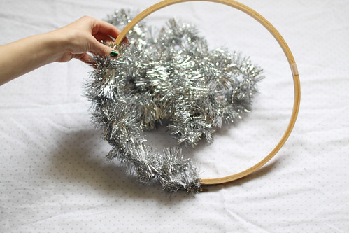 tinsel wreath | by Vanilla and lace