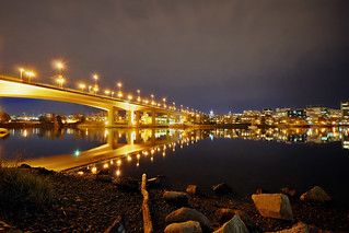 Cambie Bridge at night | by mschroeter140