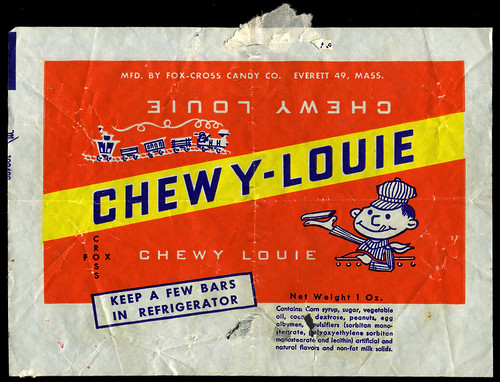 Fox-Cross Candy - Chewy-Louie candy wrapper - 1940's 1950's | by JasonLiebig