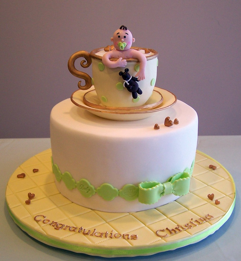 tea party baby shower cake by cakespace beth chantilly cake designs