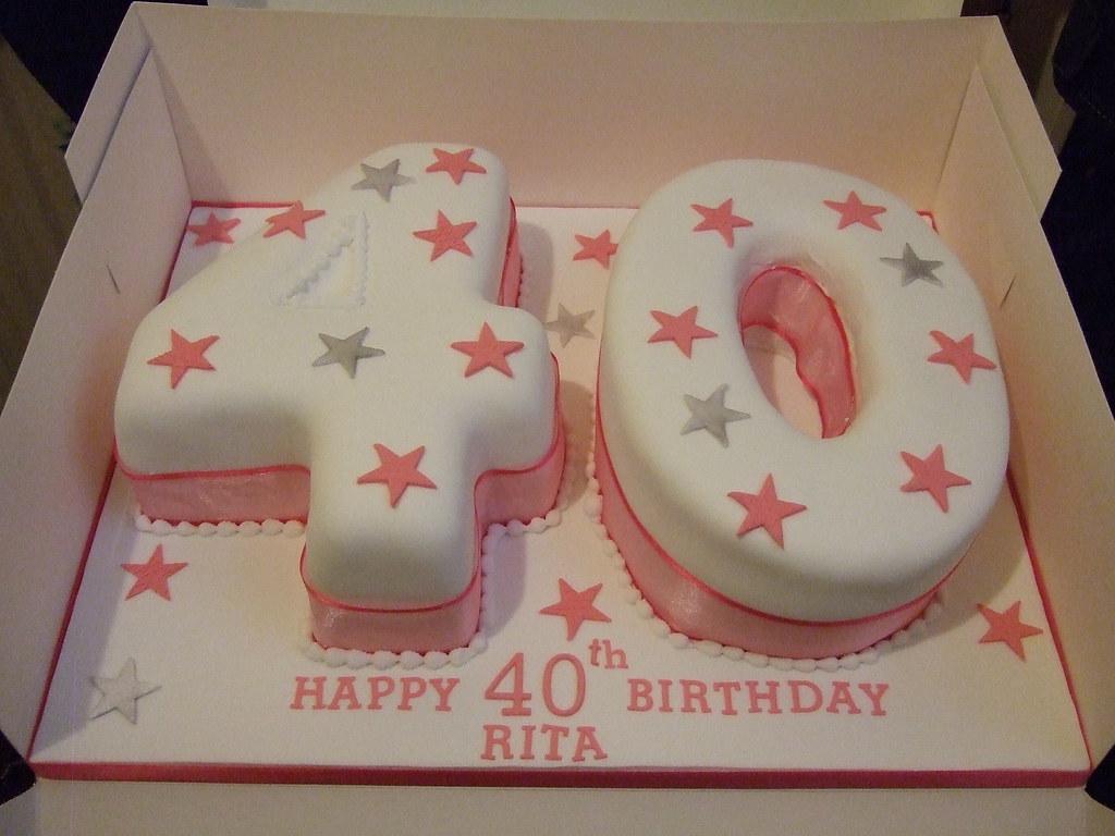 Pinksilver 40th Birthday Cake Platypus1974 Flickr