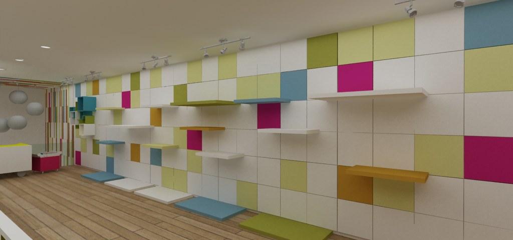 exhibicion a muro para tienda infantil | diseño de tienda. d… | flickr