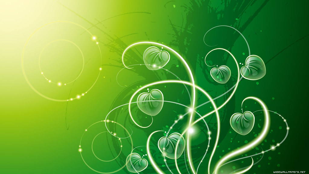 Green Abstract Wide Wallpaper
