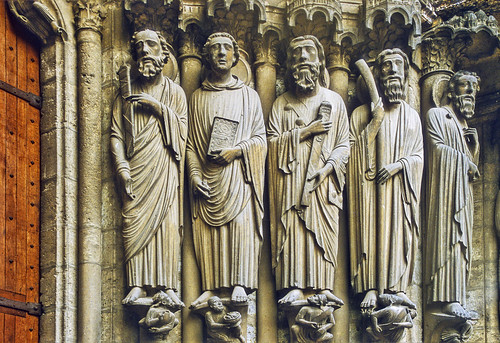 Chartres, Cathédrale Notre Dame, South Transept, central portal, figures to right | by gordonplumb
