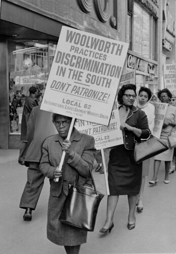 People picket against the Woolworth Company's practice of segregation, April 20, 1963. | by Kheel Center, Cornell University Library