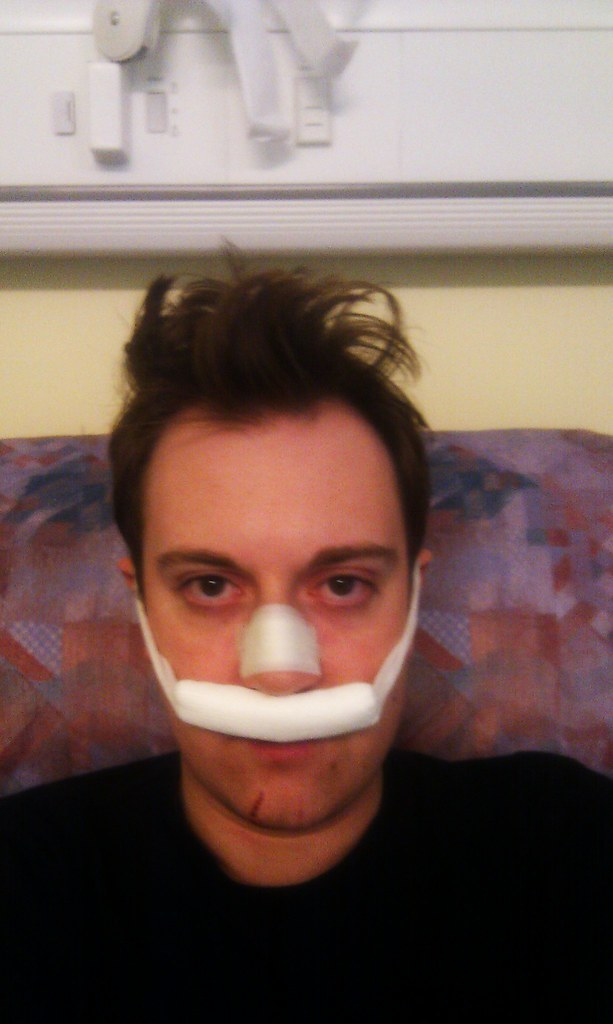 My Nose Hurts Still Hurts But Now Has Sanitary Product Se Flickr