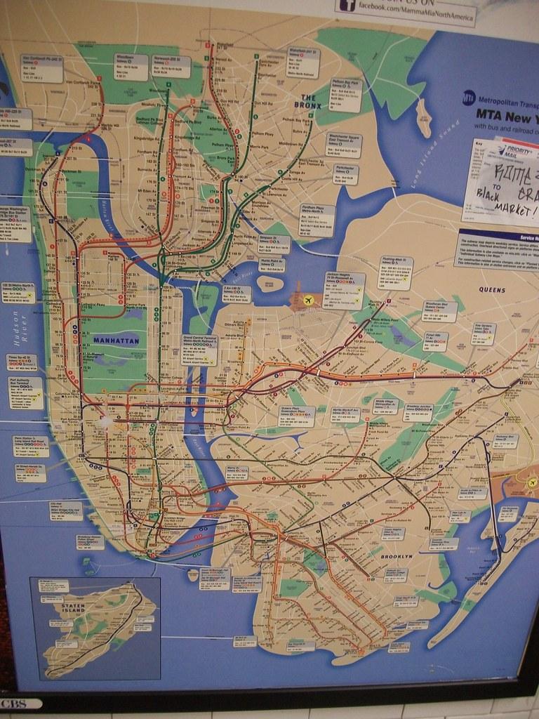 Nyc Subway Map 2011.Mta 2011 Subway Map 2011 Subway Map For New York City Ny