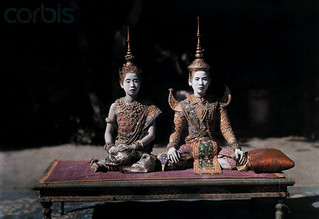 Cambodia 1931 - Two women actors perform for the Cambodian court the Ramayana | by manhhai