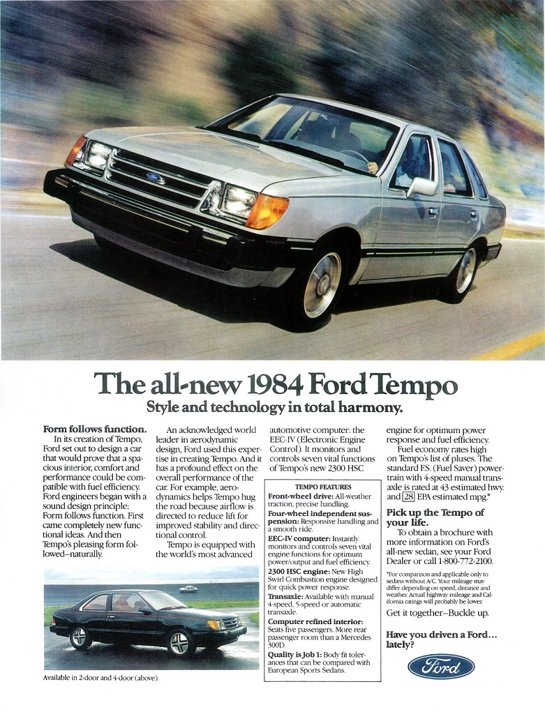 1984 ford tempo usa the first ford tempo which was base flickr 1986 Ford Tempo 1984 ford tempo usa by ifhp97
