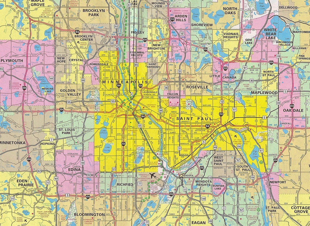 Twin Cities 2009 Map | A scan of part of the Metropolitan St… | Flickr