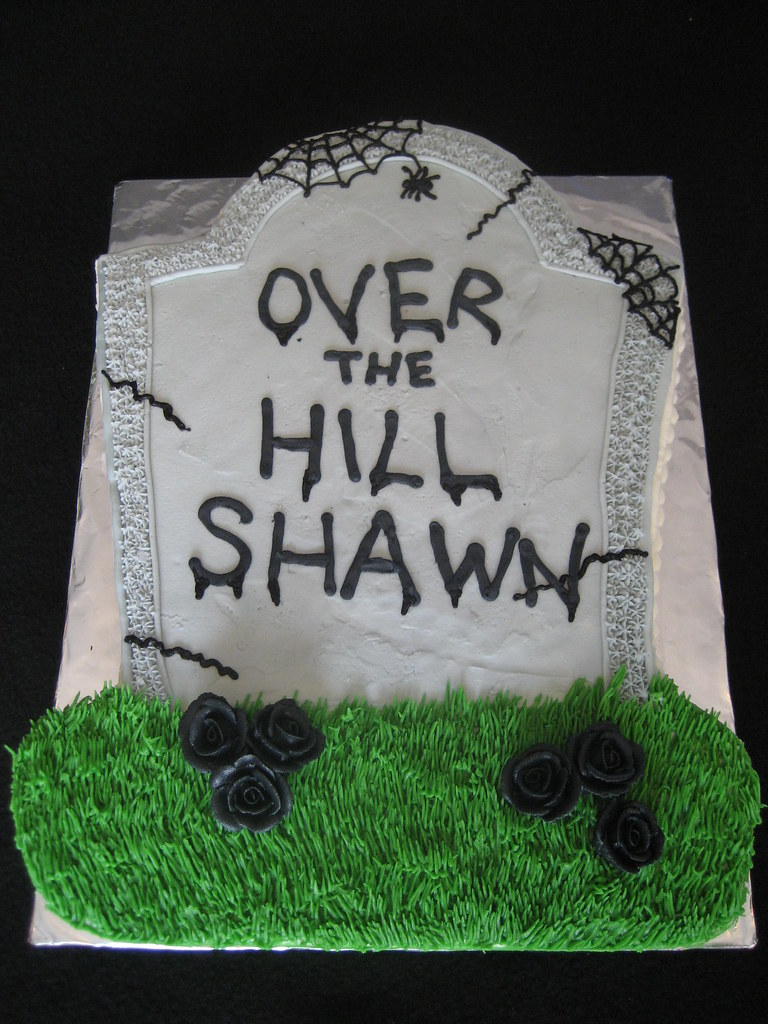 Amazing Over The Hill 40Th Birthday Cake Sara Henry Flickr Funny Birthday Cards Online Sheoxdamsfinfo