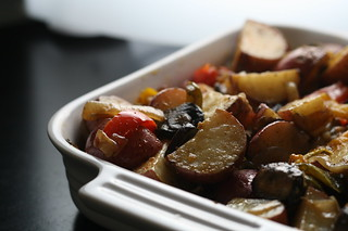 Potatoes with Roasted Vegetables | by beebrulee
