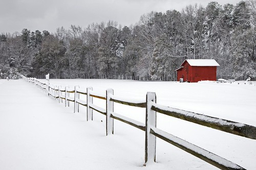 Red Barn and Snow | by FiddleFlix