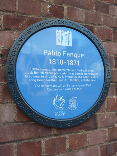 Pablo Fanque blue plaque | by sleepymyf