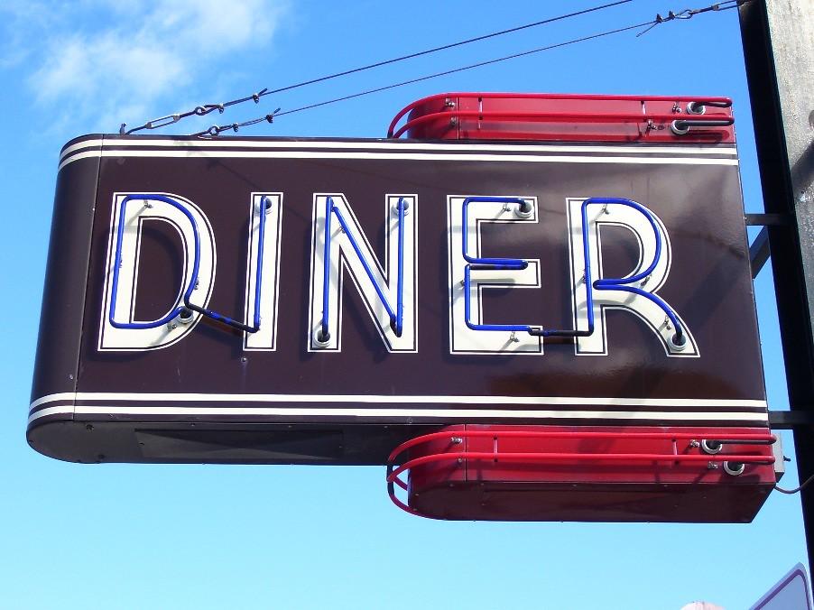 By 63vwdriver Neon DINER Sign Boulevard Diner Worcester Mass