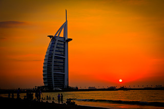 The Burj al-Arab, at sunset | by modenadude