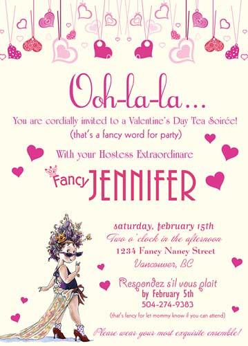 Fancy Nancy Custom Valentine Invitation Wwwartfirecom