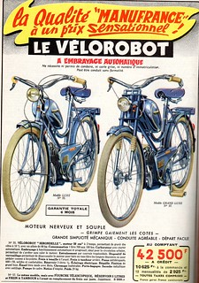 the 1950s-ad for vélorobot moped | by april-mo