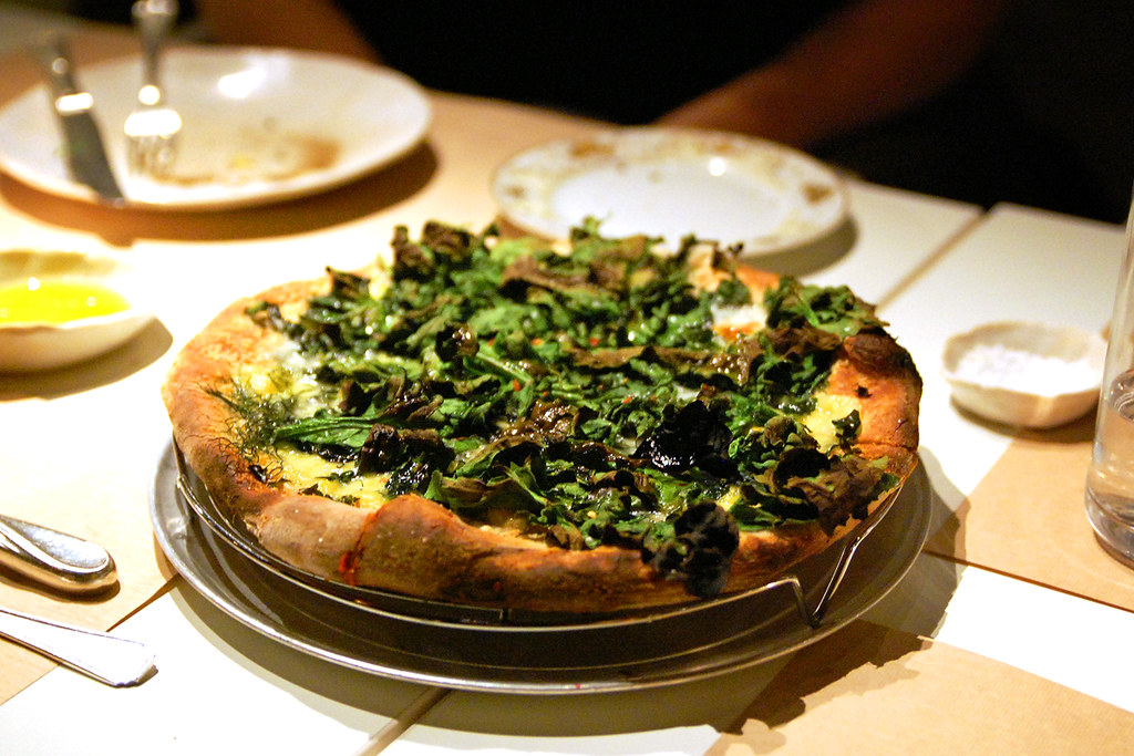 Spinach Goat Cheese And Herbs Pizza At Abc Kitchen Flickr