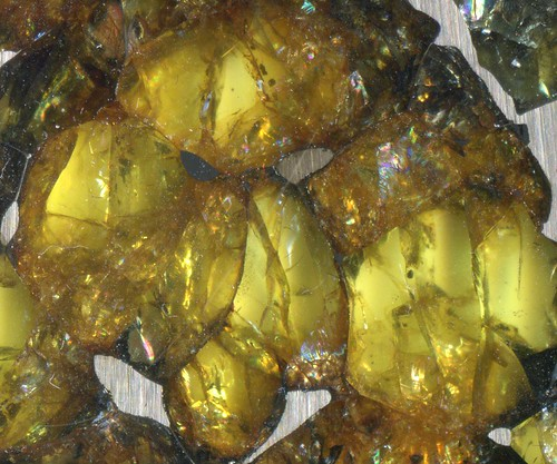 Esquel Olivine Crystal Cluster | by Meteorite Times Magazine