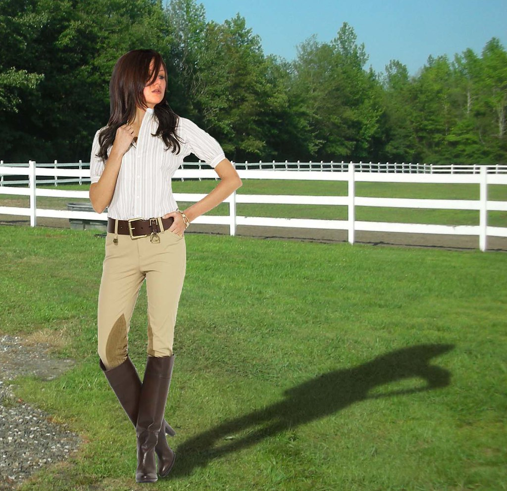 Sexy girl riding jodhpurs