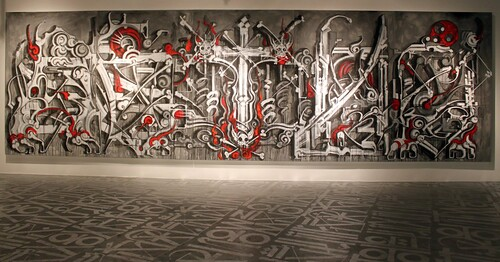 Retna Solo Show Silver Lining Primary Flight Art Basel 2010 | by Graffuturism.com