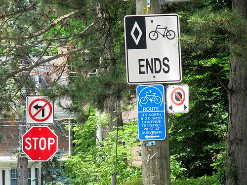 Toronto bike route ends | by James D. Schwartz