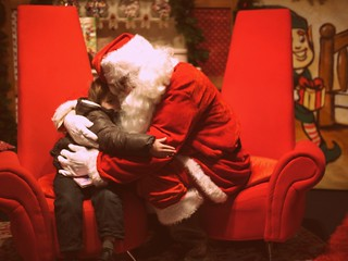 Miles and Santa | by Kirstin Mckee