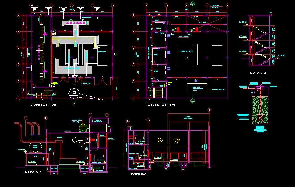 Residential Building Electrical Design In Autocad Drawing ...