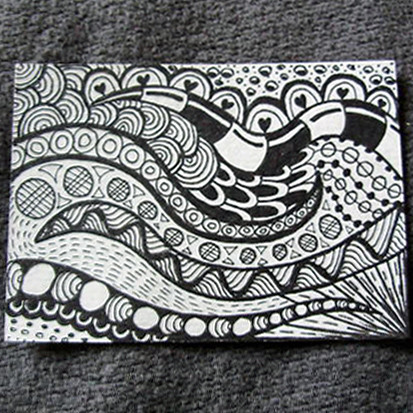 ACEO Zendoodle 60 © ZFord 6060x6060 Inches On Watercolour Flickr Classy Zendoodle Patterns