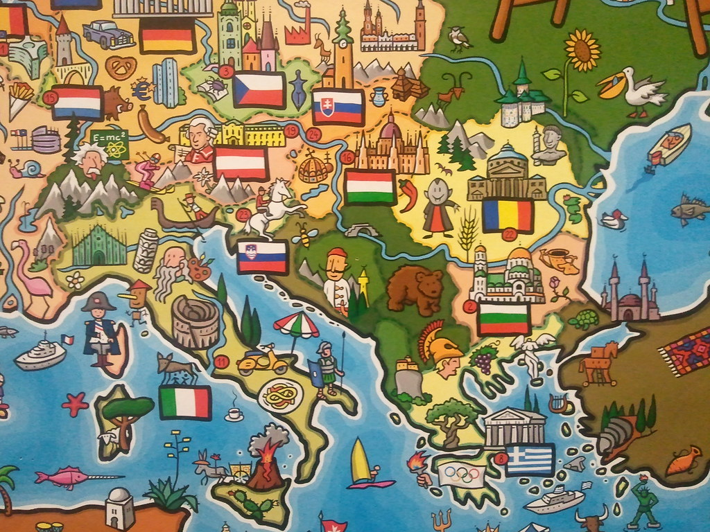 map of europe in the german language class by bojan bjelic