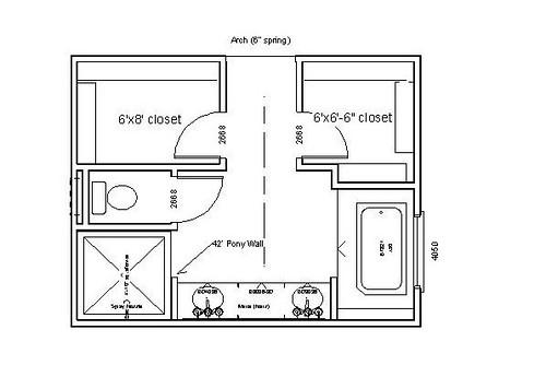 Master Bathroom Layout Floor Plans Photo Galleries