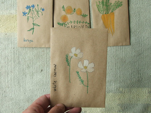 hand-painted seed packets | by tiny happy