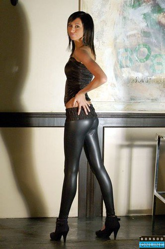 Teen wetlook leggings
