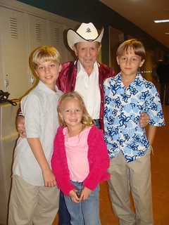 josh, emma and evan with little jimmy dickens | by delmccouryband
