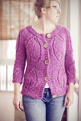 Modern Garden Cardigan | by pricklypearbloom