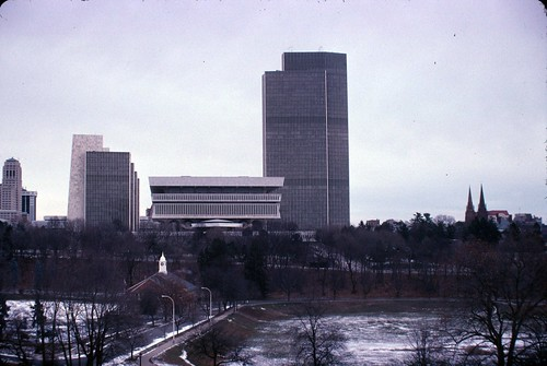 Empire State Plaza in Kodachrome December 25 2010 | by chuckthewriter
